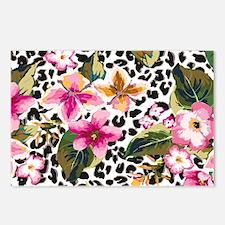 Animal Print Flower Postcards (Package of 8)