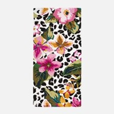 Animal Print Flower Beach Towel