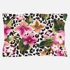Animal Print Flower Pillow Case