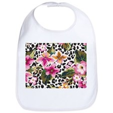 Animal Print Flower Bib