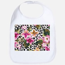 Animal Print Flower Bib