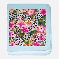 Animal Print Flower baby blanket