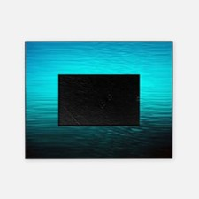 aqua blue water ombre black picture frame
