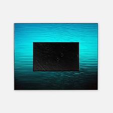aqua blue water ombre black picture frame