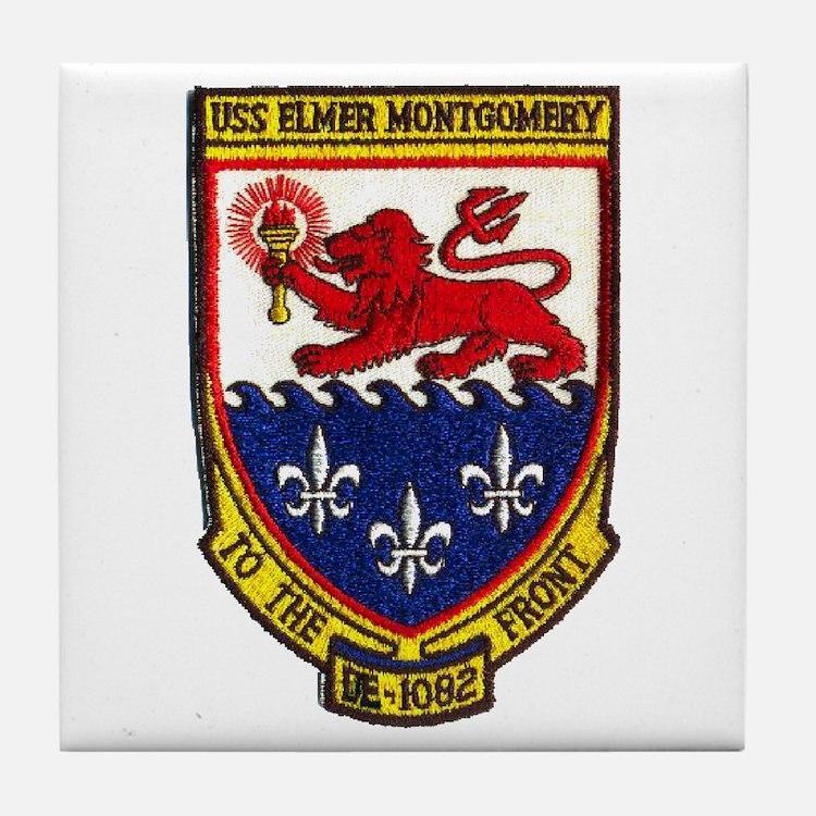 USS ELMER MONTGOMERY Tile Coaster