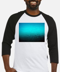aqua blue water ombre black Baseball Jersey