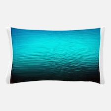 aqua blue water ombre black Pillow Case