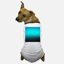 aqua blue water ombre black Dog T-Shirt
