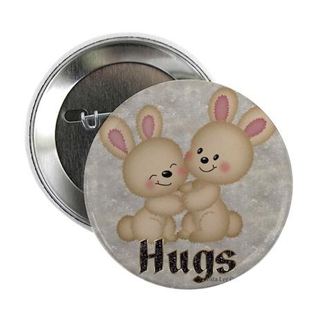 """Hug Bunnies 2.25"""" Button (100 pack)"""