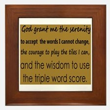 Scrabble Serenity Framed Tile