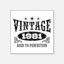 "Vintage 1981 Square Sticker 3"" x 3"""