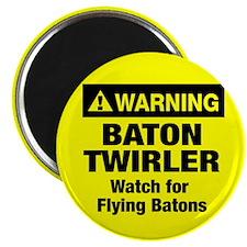 WARNING Baton Twirler Magnet