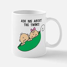 Pea Pod Ask About Twins Mug
