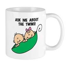 Pea Pod Ask About Twins Small Mugs