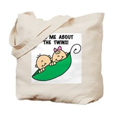 Pea Pod Ask About Twins Tote Bag