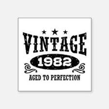 "Vintage 1982 Square Sticker 3"" x 3"""