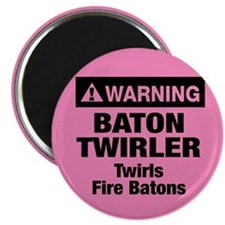 Fire Baton Twirler Magnet