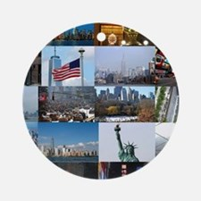 New York Pro Photo Montage-Stunni Ornament (Round)