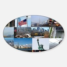 New York Pro Photo Montage-Stunning Sticker (Oval)