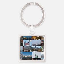 New York Pro Photo Montage-Stunnin Square Keychain