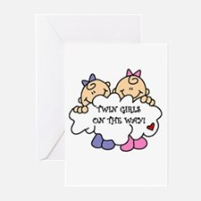 Twin Girls on the Way Greeting Cards (Pk of 10