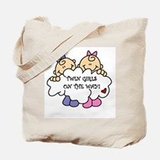 Twin Girls on the Way Tote Bag