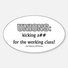 Unions Kicking A## Oval Decal