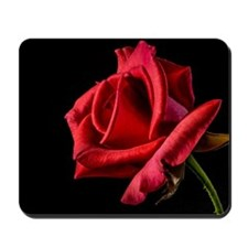 Red Rose Sideways Mousepad