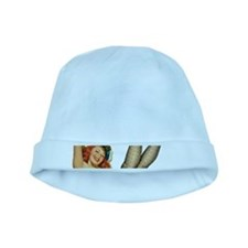 vintage pin up sexy woman baby hat