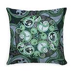 Celtic Stormy Sea Mandala Everyday Pillow