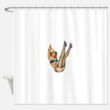 vintage pin up sexy woman Shower Curtain