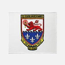 USS ELMER MONTGOMERY Throw Blanket