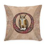 Celtic Owl Everyday Pillow