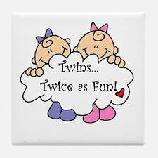Twins Twice as Fun Tile Coaster