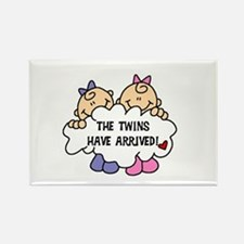 Twin Girls Arrived Rectangle Magnet