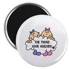Twin Girls Arrived Magnet