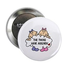 "Twin Girls Arrived 2.25"" Button (10 pack)"