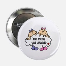 Twin Girls Arrived Button