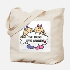 Twin Girls Arrived Tote Bag