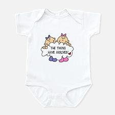 Twin Girls Arrived Infant Bodysuit