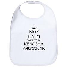 Keep calm we live in Kenosha Wisconsin Bib