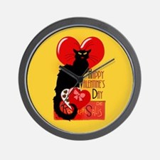 Le Chat Noir Valentine Wall Clock