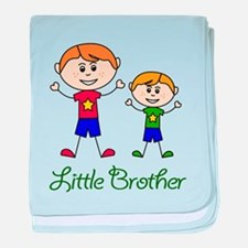 Little Brother with Big Brother baby blanket
