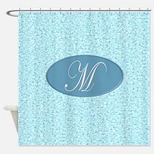 Monogram M Shower Curtain