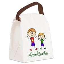 Little Brother with Big Brother Canvas Lunch Bag