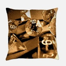 Sepia Gaming Dice Everyday Pillow