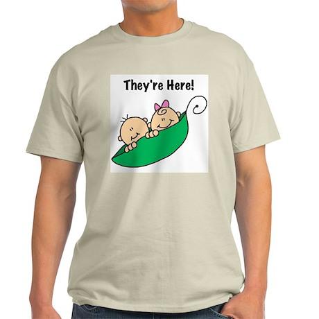 Twin Boy and Girl Light T-Shirt