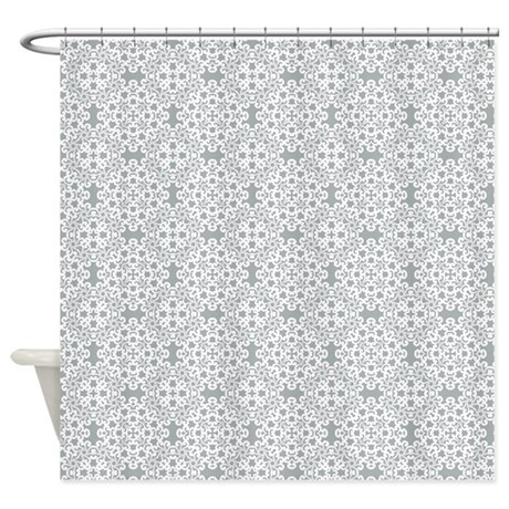 paloma white lace 2 shower curtain by dpeagreendesigns. Black Bedroom Furniture Sets. Home Design Ideas