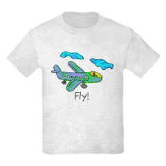 Kid Art Jet Plane Kids Light T-Shirt