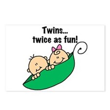 Twins Twice as Fun Postcards (Package of 8)